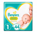 Afbeelding van Pampers Premium Protection Maat 1 (New Born) 2 5 kg 44 Stuks