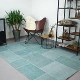Afbeelding van Patchwork vloerkleed Moods Zee blauw No.08 230x330 cm Brinker carpets