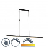 Image of Adjustable hanging lamp anthracite dim to warm incl. LED Juliet