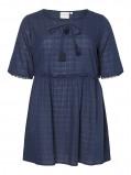 Image of JUNAROSE 2/4 Sleeves Tunic Women Blue