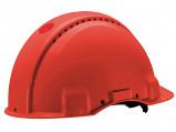 Afbeelding van 3M Peltor G3000DUV RD Veiligheidshelm met pinlock Rood Leren sweatband