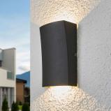Afbeelding van 2.lamps LED buiten wandlamp Jiline, Lampenwelt.com, aluminium, glas, 3 W, energie efficiëntie: A+, B: 9 cm, H: 15 cm