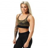 "Bilde av ""Better Bodies Woman Better Bodies Astoria Sports bra Dark green camo"""