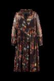 Abbildung von FSTVL by MS Mode Damen Langes halb transparentes Kleid Rot