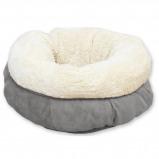 Abbildung von All For Paws Donut Bett Lammfell Grau