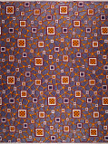 Zdjęcie Vlisco VL00014.301.06 Blue/Brown African print fabric Limited Editions Geometrical