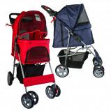 Bild av Agradi Pet Stroller with 4 Wheels Red 68x46x100cm