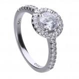 Afbeelding van Diamonfire 814.0139.185 Ring Bridal Entourage zilver met zirconia Maat 18,5