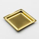 Afbeelding van Gebaksschoteltje kunststof Vierkant Goud 88mm