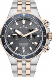 Afbeelding van Edox 10109 357RBUM NIR herenhorloge zwart edelstaal PVD rosé