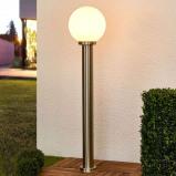 Afbeelding van Aiven tuinpadverlichting met bolkap, Lampenwelt.com, roestvrij staal, kunststof, E27, 60 W, energie efficiëntie: A++, H: 110 cm