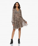 Obrázek ANINE BING Dress Elliana Silk Crepe in Beige Leo
