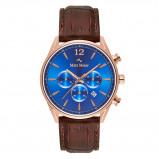 Afbeelding van Mats Meier Grand Cornier Chrono Blauw/Rosegoudkleurig horloge MM00113