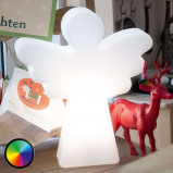 Afbeelding van 8 Seasons engel decoratielamp LED Shining Angel, polyethyleen, energie efficiëntie: A, B: 34 cm, H: 40 cm