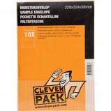 Afbeelding van Cleverpack monsterenveloppen, ft 229 x 324 38 mm, met stripsluiti...