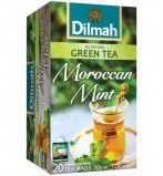 Afbeelding van Dilmah All Natural Green Tea Moroccan Mint 20st