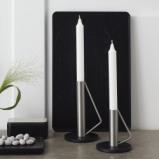 Billede af Lysestage sort og stål large