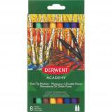 Afbeelding van Derwent twin tip viltstiften Academy, normale/brush punt, blister v...