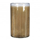 Afbeelding van Casa Vivante elice vaas glas taupe maat in cm: 25 x 15,5