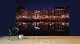Afbeelding van Amsterdam Bij Nacht Fotobehang 4 delig 368x254cm Steden