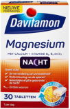 Afbeelding van Davitamon Magnesium Voor de Nacht 30 tabletten voedingssupplement