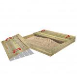 Abbildung von Fatmoose BuddyBox Sandkasten mit Deckel Holzsandkasten