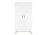 Afbeelding van Bopita 2 deurskast lynn wit/naturel