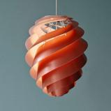 Afbeelding van LE KLINT le Swirl 2 Medium hanglamp, koper, voor woon / eetkamer, kunststof, E27, 7 W, energie efficiëntie: A++, H: 45 cm