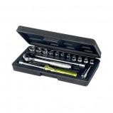 Afbeelding van 12/24 volt USB waterbestendig dubbel inbouwstopcontact met laadfunctie