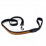 Afbeelding van Beeztees Looplijn + Usb Ruflo Zwart Oranje 120cmx25 Mm