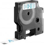 Billede af Dymo S0720540 standardtape D1 blå på hvid 12mm x 7m Dymo 45014 kompatibel