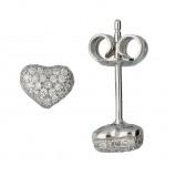 Afbeelding van Classics Zilveren Oorbellen Hart met zirconia 6 mm 106.0476.00