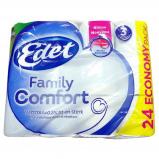Afbeelding van Edet 3 laags Toiletpapier Family Comfort 24 Rollen