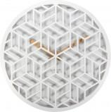 Afbeelding van Wandklok NeXtime dia. 36 cm, hout, wit