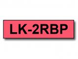 Bilde av Alternativ til Epson LK 2RBP svart tekst på rød tape 6mm x 9m C53S652001