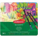 Afbeelding van Derwent kleurpotlood Academy , blik van 24 stuks in geassorteerde k...