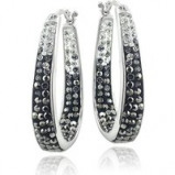 Image of Swarovski Elements Tennis Bracelet and Earrings Set
