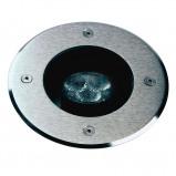 Afbeelding van Albert Leuchten zwenkbare LED grondinbouwspot Fabio, 3000K, gegoten aluminium, roestvrij staal, veiligheidsglas, 4.5 W, energie efficiëntie: A+, H: 0.3 cm