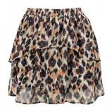 Afbeelding van A lijn rok luipaard & laagjes, rokje met print