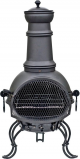 Image of 107cm Black Steel RedFire Cadiz with Pull Out Grill