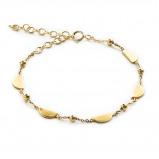 Afbeelding van Violet Hamden 925 Sterling Zilveren Goudkleurige Cycle of Luna Armband VH10130 (Lengte: 14.00 19.00 cm)