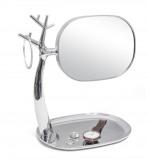 Afbeelding van Balvi organizer met spiegel Nature chroom kunstststof