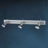 Afbeelding van Busch fraaie plafondlamp SARA met glasplaat 3 lichts, voor hal, metaal, glas, GU10, 50 W, energie efficiëntie: A++, L: 59 cm