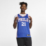 Image of DarioŠarić Icon Edition Swingman (Philadelphia 76ers) Men's Nike NBA Connected Jersey Blue