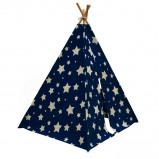 Afbeelding van Sunny Tipi tent Cosmo glow in the dark blauw en wit C052.102.01