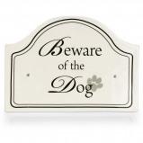 Afbeelding van Designed By Lotte Keramiek Bordje Beware Of The Dog