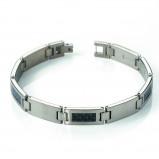Afbeelding van Boccia 0333 01 titanium armband met carbon inleg
