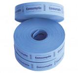 Afbeelding van Consumptiebon Combicraft 57x30mm 2 zijdig 2x1000 stuks blauw Horecabenodigdheden