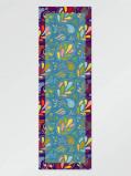 Imagem de Vlisco Scarf flower lt blue 65x198cm Blue/Green/Pink African print fabric Silk Scarves Nature