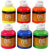 Image of A Color Acrylic Paint Neon 6 x 500 ml (32600)
